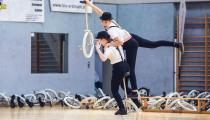 DM2019 Einrad-Freestyle - Damen-Expert - Maja Novosel & Kristina Ratzka - Thema Dick & Doof - 1. Platz