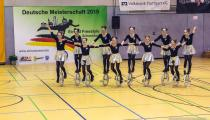 DM2019 Einrad-Freestyle - Großgruppe 15+ - Thema Electric - 3. Platz