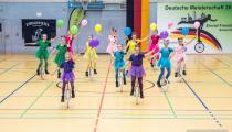 DM2019 Einrad-Freestyle - Großgruppe U15 - Thema 99 Luftballons - 4. Platz