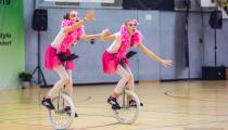 DM2019 Einrad-Freestyle - Junior-Expert - Lara Michael & Nele Ulrich - Thema Flamingos - 3. Platz