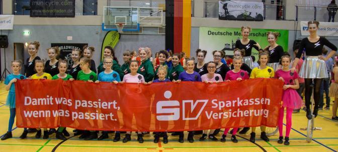 DM2019 Einrad-Freestyle -TSV Dudenhofen Gruppenfoto (Foto: Basti Pilawa)