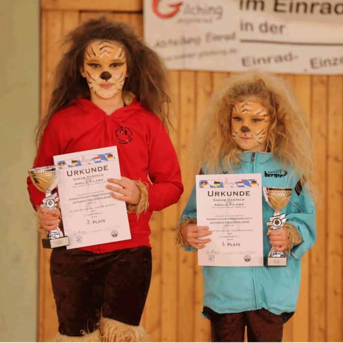 TSV Einrad SDM 2018 Amelie und Sarah