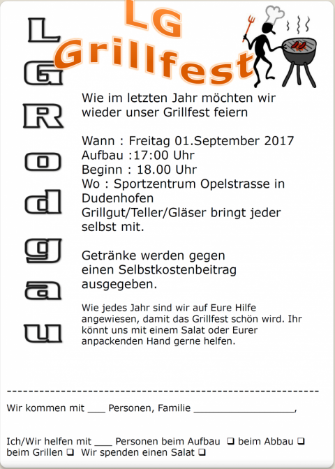 LG Rodgau Grillfest 1.9.2017